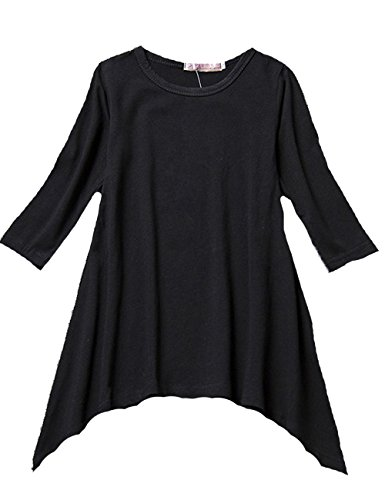 Childrens Black Sleeve Cotton T shirt product image