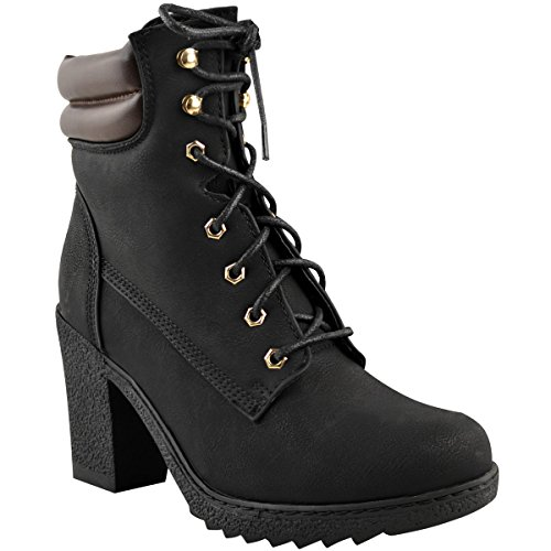 Ladies Biker Boots Size 5 - 5