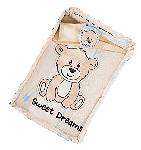 NEW PRETTY COLLECTION TEDDY BEAR SWEET DREAMS BABY BOYS NURSERY CRIB BEDDING SET 6 PCS