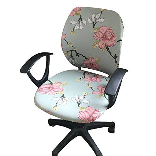 Jiyaru Rotating Armchair Slipcover Removable Stretch Computer Office Chair Cover -1 by Jiyaru