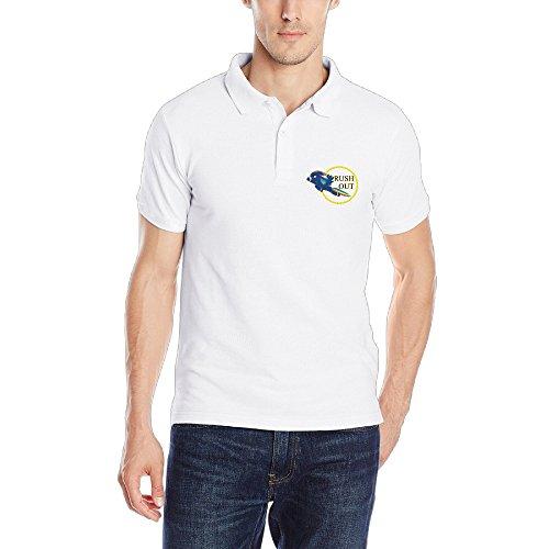 MEGGE Men's Flying Performance Fashion Short Sleeve Uniforms Polo Shirt XXL
