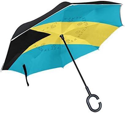 Paraguas de Doble Capa Invertida de la Bandera de Las Bahamas ...