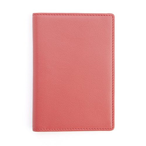 Royce Red RFID Blocking Leather Passport Wallet RFID-209-RED-5 ()