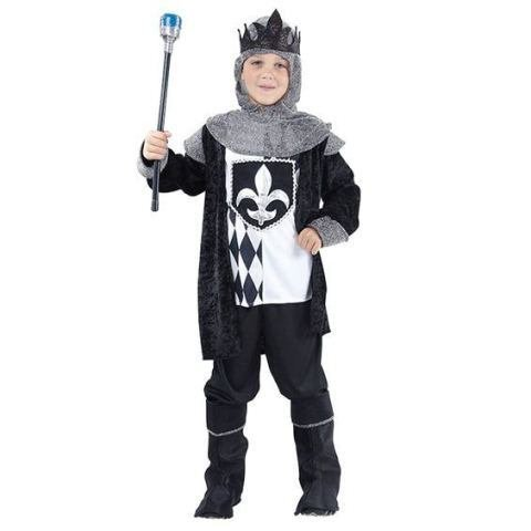 Medieval Chess King 6pc Childs Fancy Dress Costume - S (King Fancy Dress Child)