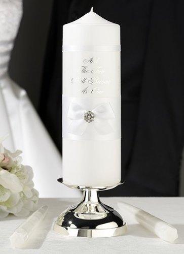 Satin Bow Unity Candle - 4