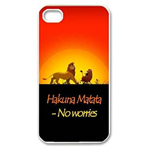 The Lion King Hakuna Matata Hard Snap Phone Case Cover for Iphone 4,4S case TSL217947