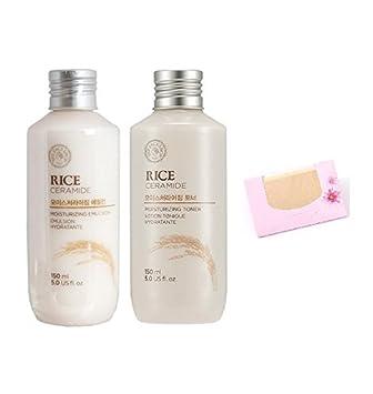 The Face Shop Rice Ceramide Moisture SET SoltreeBundle Natural Hemp Paper 50pcs 1. Toner Emulsion