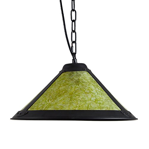 Yxx max Pendant Lights Mica Sheet Chandelier Retro Living Room Restaurant Corridor Clubs Decorative Lights Ceiling Lights (Color : Green)