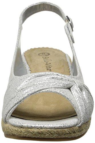 Vita Bella Espadrille Too Sangria Women's White Silver Sandal AdUqdr