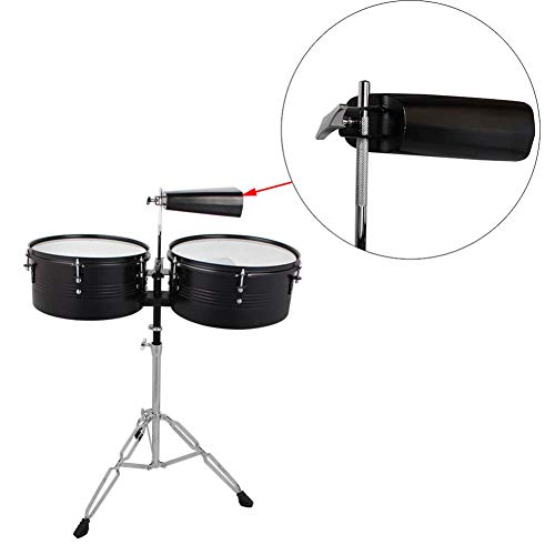 Rainrain27 Student Snare Drum Set With Gig Bag, Sticks, Stand And Cowbell Black Kit, Black (fast Delivery)