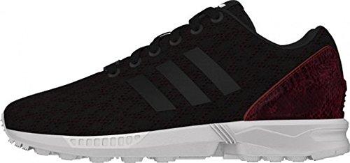 adidas ZX Flux W - Zapatillas para mujer, color negro / rojo, talla 44