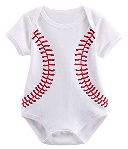 Family Of Three Costumes Ideas (Mombebe Baby Boys' Baseball Costume Bodysuit (3-6 Months, White))