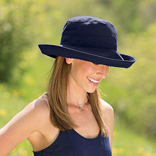 Wallaroo Hat Company Womens Casual Traveler Sun Hat - UPF 50+, Adjustable, Ready for Adventure, Designed in Australia, White