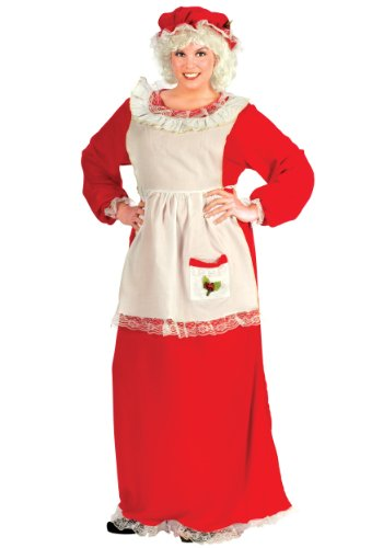 Mrs Claus Costume Dress (Fun World Costumes Women's Plus-Size Plus Size Adult Mrs.Claus Promo Suit, Red/White, X-Large)