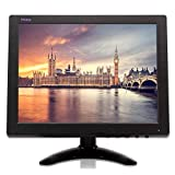 TPEKKA 10'' Inch CCTV Monitor HD 1024x768 Portable Mini TFT LCD Security Monitor Display with BNC HDMI VGA AV Input for DVR FPV Car Monitor PC Computer Video Screen Home Office Surveillance Cam System