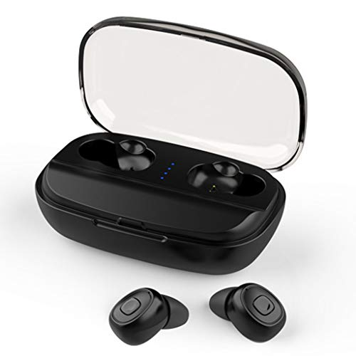 Byoung Bluetooth 5.0 Wireless Earbuds,3D Stereo Sound Headphone with with Qi-Enabled Wireless Charging Case 3000mAh TWS in Ear Handsfree Earphone with Mic Auto Pairing for Running Sport Gym Workout