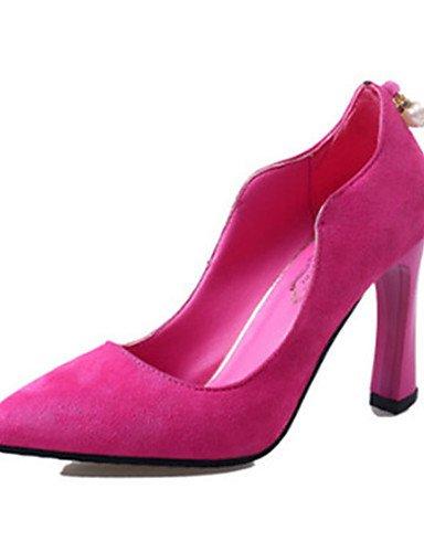 GGX/Damen Schuhe Fleece Sommer Heels Heels Casual Stiletto Heel andere schwarz/pink/burgund pink-us7.5 / eu38 / uk5.5 / cn38