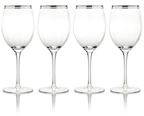Cheap Mikasa Haley Platinum Water Goblet, 19-Ounce, Set of 4