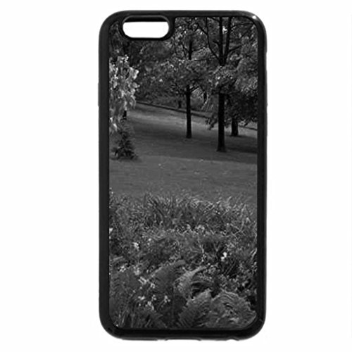 iPhone 6S Case, iPhone 6 Case (Black & White) - Beautiful Green Park in Summer