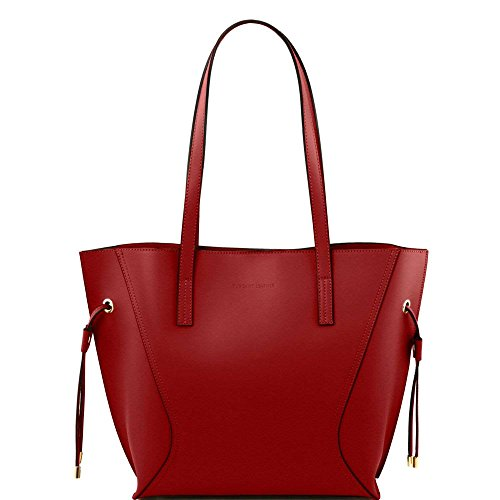 TUSCANY LEATHER , Damen Schultertasche Rot rot Taille Unique