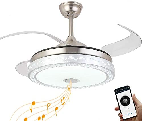 Modern Ceiling Fan Retractable Blade