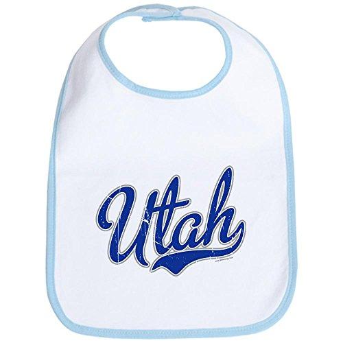 CafePress - Utah State Script Font Bib - Cute Cloth Baby Bib, Toddler Bib ()