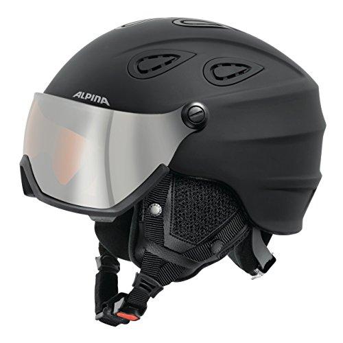 Alpina Grap Visor HM Casque de ski unisexe black matt 32