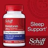 Schiff Melatonin Ultra. 365 Tablets. 3mg Melatonin + 25mg L-Theanine + 25mg GABA + Chamomile & Valerian Extracts by SCHIFF