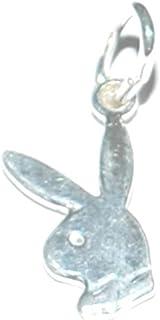 Piccolo coniglietto Playboy gioielli artigianali regalo collana ciondolo/charm in argento Sterling 925–25mm