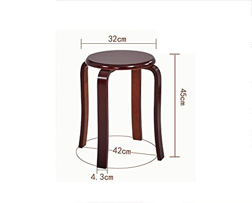 (Quantity: 4)Solid wood stool, European style, thick bench, home table stool ( Style : D )