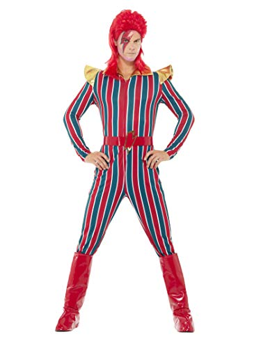 David Bowie Costumes (Smiffys Men's Space Superstar Costume, Multi,)