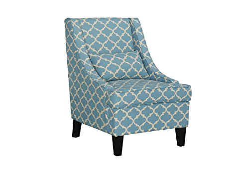 Baxton Studio Lotus Contemporary Fabric Armchair - Yellow Patterned Fabric