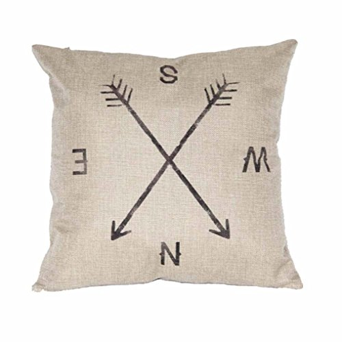 Iuhan® Fashion Compass Linen Throw Pillow Case Cushion Cover Home Decor