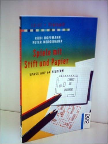 Rudi Hoffmann Spiele Mit Stift Und Papier Amazon De Bücher