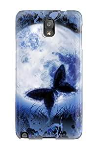 Tpu Case Cover For Galaxy Note 3 Strong Protect Case - Butterfly Design