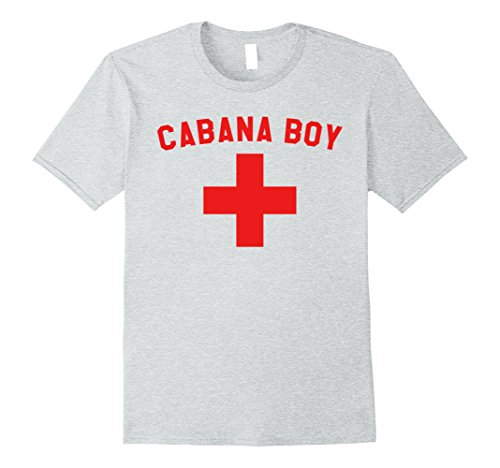 Cabana Boy Halloween Costume (Mens Cabana Boy T-Shirt Lifeguard Pool Boy Halloween Costume Medium Heather Grey)