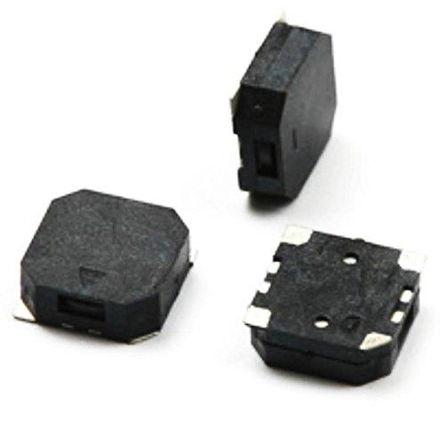 ElepartPro 3PCS 8.5X8.5X3mm Passive 3V SMD Buzzer Slim Speaker Pronunciation 8530 Black Piezo 86dB 2700Hz Side Phonate