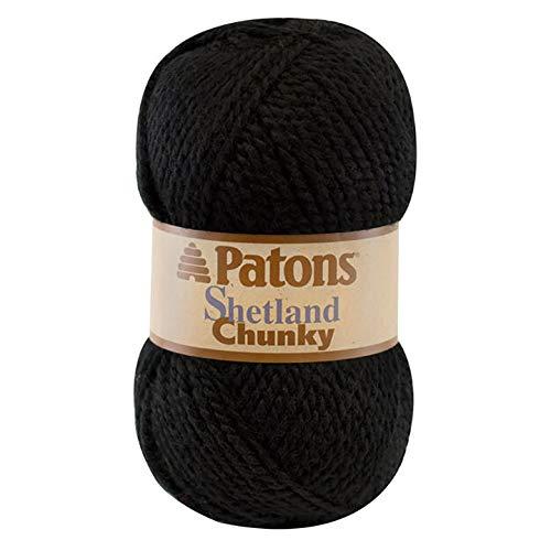 (Patons Shetland Chunky Yarn Black)