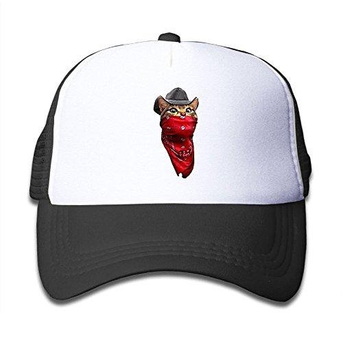 Elephant AN Cool Mask Cat Mesh Baseball Cap Kid Boys Girls Adjustable Golf Trucker Hat -