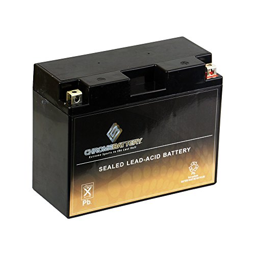 Chrome Battery YTX24HL-BS High Performance - Maintenance Free - Sealed AGM Motorcycle Battery ()