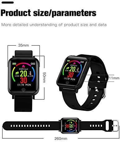 RRLOM Smart Watch Blood Pressure Monitor, Heart Monitor Smart Watch, Temperature Scanner, IP67 Waterproof, SpO2+ HR+ BP Monitor, Sports Fitness Tracker 41NtW HsqDL