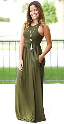 Sexy Ruiyue Solide Sans Femmes Styles Longues Couleur Diffrents Casual Haute Taille Maxi Poches Tunique Party Bretelles Soire Beach Pour Dress Robes De Green2 D't Dress rtFxvwqpr