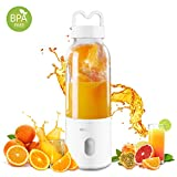 Portable Blender, Small Smoothie Blender - 6 Blades,17oz 500ml Fruit Mixing Machine with 4000mAh USB Rechargeable Batteries (White)