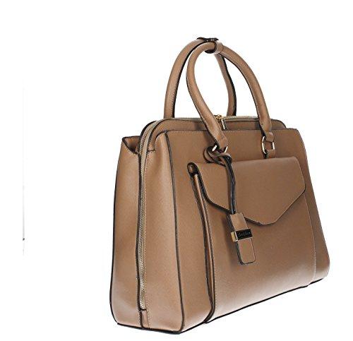 Amy tascabile, da borsetta da spalla da donna, da donna, misura grande, motivo: Fashion, SWANKYSWANS Tote Handbags Tan