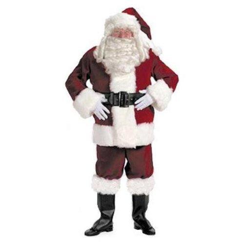 Exquisite Dark Velvet Santa Suit Adult Costume - Large ()