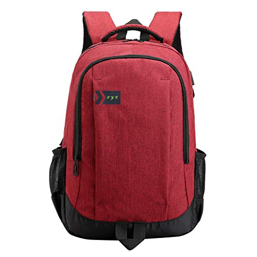 YEZIJIN Men's Women's Large Capacity Flexo Shoulders Laptop Bag Student Backpacks Under 20