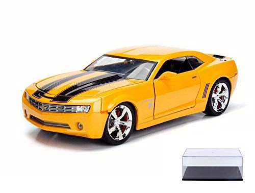 (Diecast Car & Display Case Package - 2006 Chevy Camaro Concept Bumblebee, Yellow w/ Black - Jada 99384 - 1/24 Scale Diecast Model Toy Car w/Display Case)