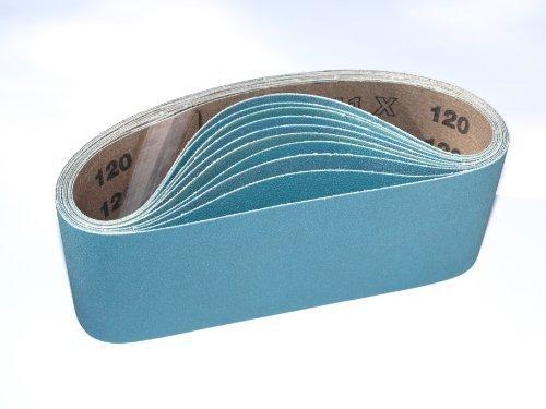 75 x 457 mm Zirconia bandas de lija para pulidora (, 5 unidades) cinturones) 120 g, grano para ajustarse a todas las 75 x 457 mm cinturó n lijadora 5unidades) cinturones) 120g STARCKE ERSTA