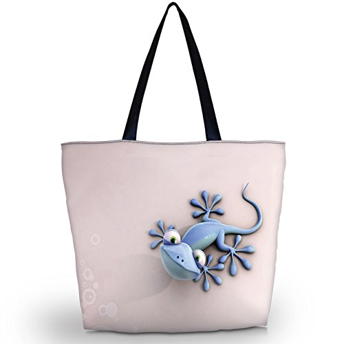 Newplenty Ladies Zippered Light Shoulder Shopping Tote Bag Handbag Beach Satchel (SB-6006) by newplenty (Image #8)
