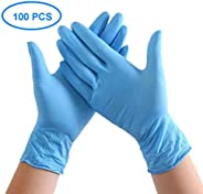 VGOCA 100 Pcs Nitrile Disposable Gloves Powder Free Rubber Latex Free Medical Exam Gloves Non Sterile Ambidextrous Comfortab